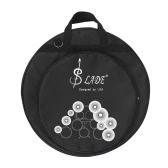 21 pollici tre tasche Cymbal Bag Backpack con divisori tracolla amovibile