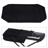 61/76 Keys Electronic Piano Keyboard Dust Cover Black Soft Cloth Anti-Dust Protector Washable