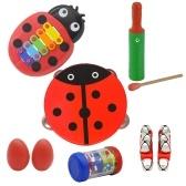 楽器おもちゃパーカッション楽器バンドリズムキット