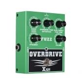 XVIVE W2 Overdrive Fuzz Педаль эффектов гитары Bass Treble Control Динамическая реакция Регулируемый True Bypass Цельнометаллический корпус