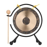 Small Percussion Musical Instruments Traditional Chinese Gong with Gong Stand Kids Gift