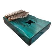 Kalimba Mbira Thumb Finger Piano Портативный 17 Ключей Твердого Дерева Музыкальный Инструмент Подарок для Любителей Музыки Новичков