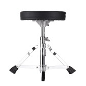 Juniors Drum Throne Round Padded Drum Seat Stool Single-braced Stainless Steel Legs Anti-slip
