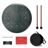12 inch 13 Tone Steel Tongue Drum Mini Hand Pan Drums with Drumsticks Percussion Musical Instruments