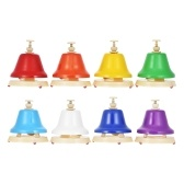 Muslady 8 Notes Colorful Hand Bells Hand Bell Set Musical Toy Iron & Plastic Material for Children Baby Early Education