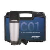 SAMSON C01 Microfono XLR a condensatore cardioide a diaframma largo Microfono professionale da studio con custodia in plastica per lo streaming di podcast
