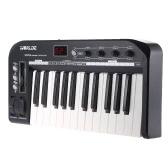 KS25A Portable 25-Tasten USB MIDI-Keyboard-Controller mit USB-Kabel