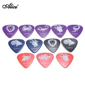 Alice AP-12C 12pcs/pack Celluloid Guitar Picks Plectrum Mix Gauges 0.46mm/0.71mm/0.81mm w/ Constellation Pattern (Random Color)
