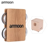 ammoon Cajon Box Drum Companion Accessory 4-bell Jingle Castanet for Hand Percussion Instruments