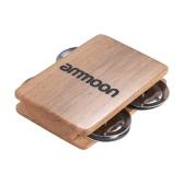 ammoon  Cajon Box Drum Accesorio Complementario 4-campanillas Jingle Castanet para Instrumentos de Percusión Manual