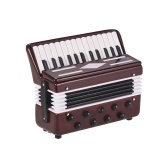 Mini Accordion Model Exquisite Desktop Musical Instrument Decoration Ornaments Musical Gift with Delicate Box