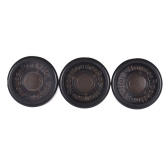 3pcs Footswitch Topper Protector ABS Bumpers for Guitar Effect Pedal Black