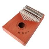 """17-тональный музыкальный инструмент """"Красное тело"""" из красного дерева """"Калимба"""""""