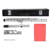 16 Holes C Key Flute Nickel Plating Flutes for Beginner