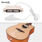 VERTECHnk VS-80 Guitarra Passiva Soundhole Pickup Humbucker Pick-up Transdutor 6.35mm Endpin Jack para Guitarra Acústica Folk