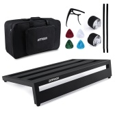 ammoon Large Guitar Effect Pedal Board Pedalboard Aluminum Alloy with Carry Bag Capo 4pcs Picks Fixing Tapes