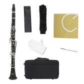 IRIN B Flat Clarinet Ebonite 17-Tasten-System mit Gehäuseschultergurt-Schraubendreher