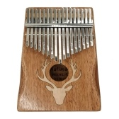 17 Keys Kalimba Elk Thumb Piano Portable Musical Instrument Dreamy Elk Maple Type
