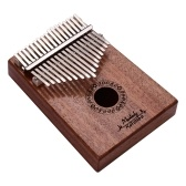 Muslady 17 Keys Thumb Piano Kalimba Mbira Finger Piano Solid Wood Metal Material Musical Instrument Portable