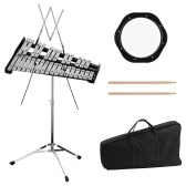 Glockenspiel Bell Kit Including 30 Notes Glockenspiel 8 Inches Practice Pad Percussion Instrument Adjustable Height