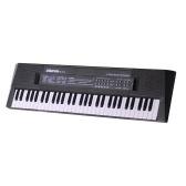 61 клавишная цифровая музыкальная электронная клавиатура Детское многофункциональное электрическое пианино для студентов-фортепиано с функцией микрофона Музыкальный инструмент
