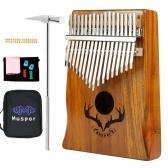 Muspor Kalimba, 17 teclas, madera de acacia, pulgar, piano, interpretación musical para principiantes profesionales