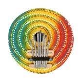 Piano de pulgar colorido de 7 teclas Kalimba Mbira Piano de dedo