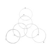 ステンレス製銀メッキ銅合金傷 1-6 (.010.047) 6 個入アコースティック ギター文字列文字列セット