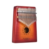 GECKO MC-S 17-klawiszowy Kalimba Thumb Piano Mbira Curly Maple Solid Wood with Carry Bag Storage Case Tuning Hammer Music Book Stickers Musical Gift