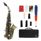Vintage Style Bb Soprano Saxophone Sax Brass Material Woodwind