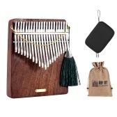 LINGTING K21W Pianoforte a pollice in legno a 21 tasti Kalimba Mbira Sanza F Tonalità