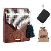 LINGTING K21W Piano de pulgar de madera de 21 teclas Kalimba Mbira Sanza F Tonalidad