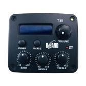 Новый 3-полосный эквалайзер B Band T35 с тюнером Системы звукоснимателей для акустической гитары