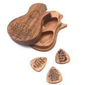Accessori per chitarra Plettro per chitarra in legno Pick Box per chitarra in legno