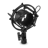 Microphone Shock Mount Black Metal Holder Clip Stand for Studio Recording