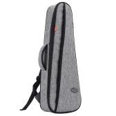 LINGTING 26 Inch Tenor Ukulele Backpack Ukelele Bag Uke Case 18mm Padding with Double Adjustable Shoulder Straps