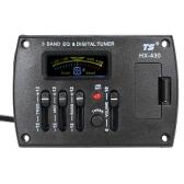 Chitarra acustica 3 fasce Sistema Pickup EQ Equalizzatore preamplificazione piezo con display LCD Dispaly sintonizzatore digitale