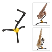 Sostenedor plegable del trípode del soporte del piso del metal del saxofón del tenor del saxofón del tenor