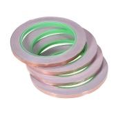 Kupfer Folienband mit Dual Conductive Adhesive für EMI Abschirmung Elektronische Gitarre Slug Repellent Papierschaltungen Elektrische Reparaturen 4 Tapes / Pack