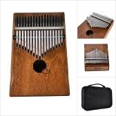 Muspor 17 Key Kalimba Mbira African Mahogany Thumb Piano Finger Musical Instrument with Bag