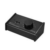 Passive Monitor Controller with XLR 3.5mm Inputs Outputs Supports Attenuation Control Mute Function