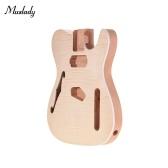 Muslady TL-FT03 Cuerpo de guitarra sin terminar Cuerpo de caoba de madera en blanco Guitarra Barril para TELE Style Guitarras eléctricas Piezas de bricolaje