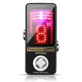ammoon Precision Chromatic Tuner Pedal Large LED Display Full Metal Shell with True Bypass for Guitar Bass