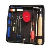 Профессиональный комплект для настройки пианино, набор инструментов для тюнера, инструмент для настройки пианино, деревянная ручка, фиксированный гаечный ключ с сумкой