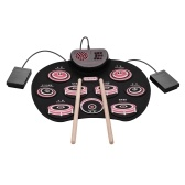 Portable Electronic Roll Up Drum Silicone Practice Drum Kit