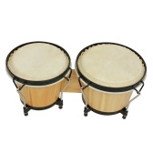 Bongo Drums Wooden Percussion Instrument Drum Set