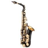 Muslady Saxophone Black Paint Sax Mib pour étudiant débutant Joueur intermédiaire