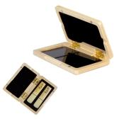 Caja de madera sólida caja de madera Reed para Tenor / Alto / Saxofón Soprano Cañas Clarinete, 2pcs Capacidad