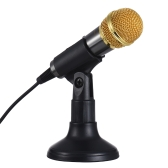 TRanshine PC-309 Mini Vocal/Instrument Microphone Portable Handheld Karaoke Singing Recording Mic with Stand Bracket Holder for iPhone Android Smartphone PC Mobile Phone Laptop Notebook