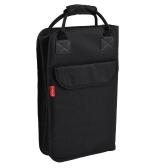 ammoon Drum Stick Backpack Drumsticks Mallet Bag Case Zippered Padded with External Pockets Floor Tom Hooks